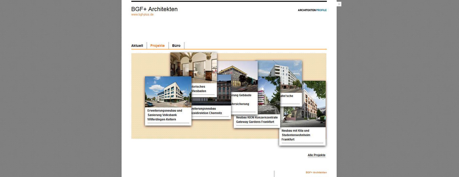 Neues bgf profil auf baunetz bgf architekten wiesbaden - Bgf architekten ...