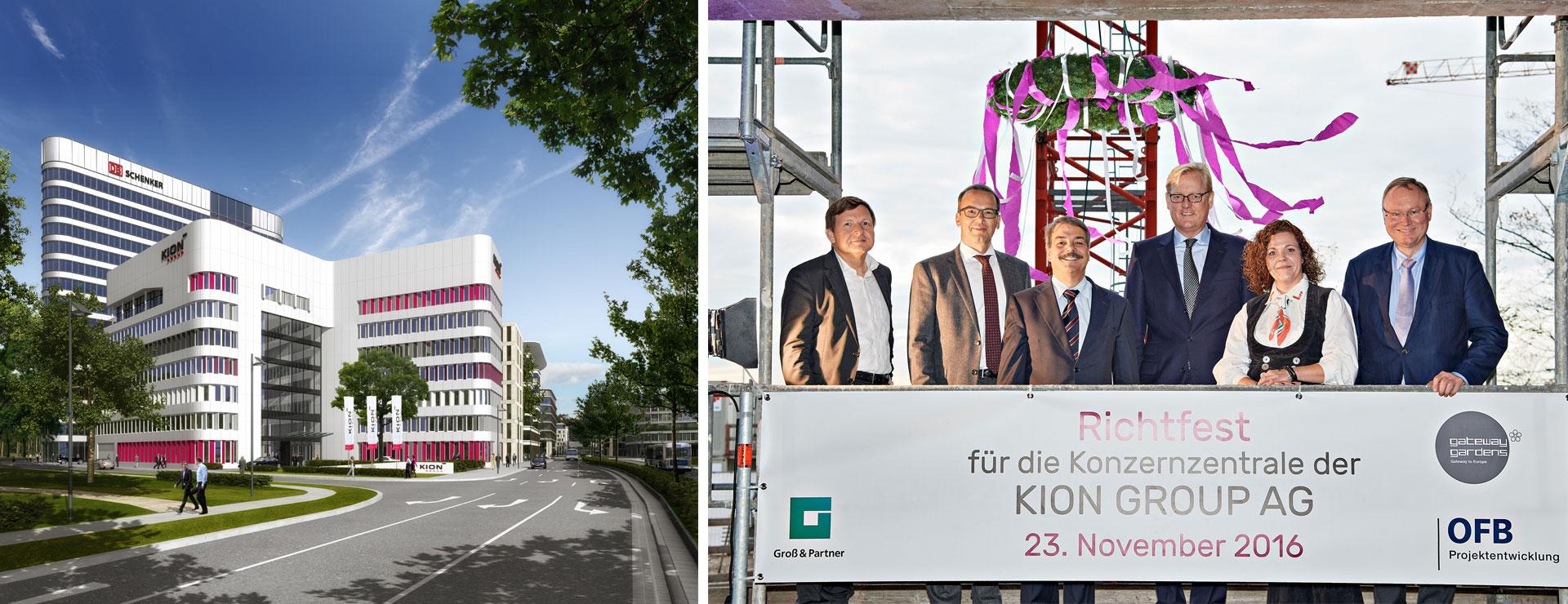 Bauunternehmen Frankfurt bild rechts v l uwe bordt bgf michael hauger leiter corporate